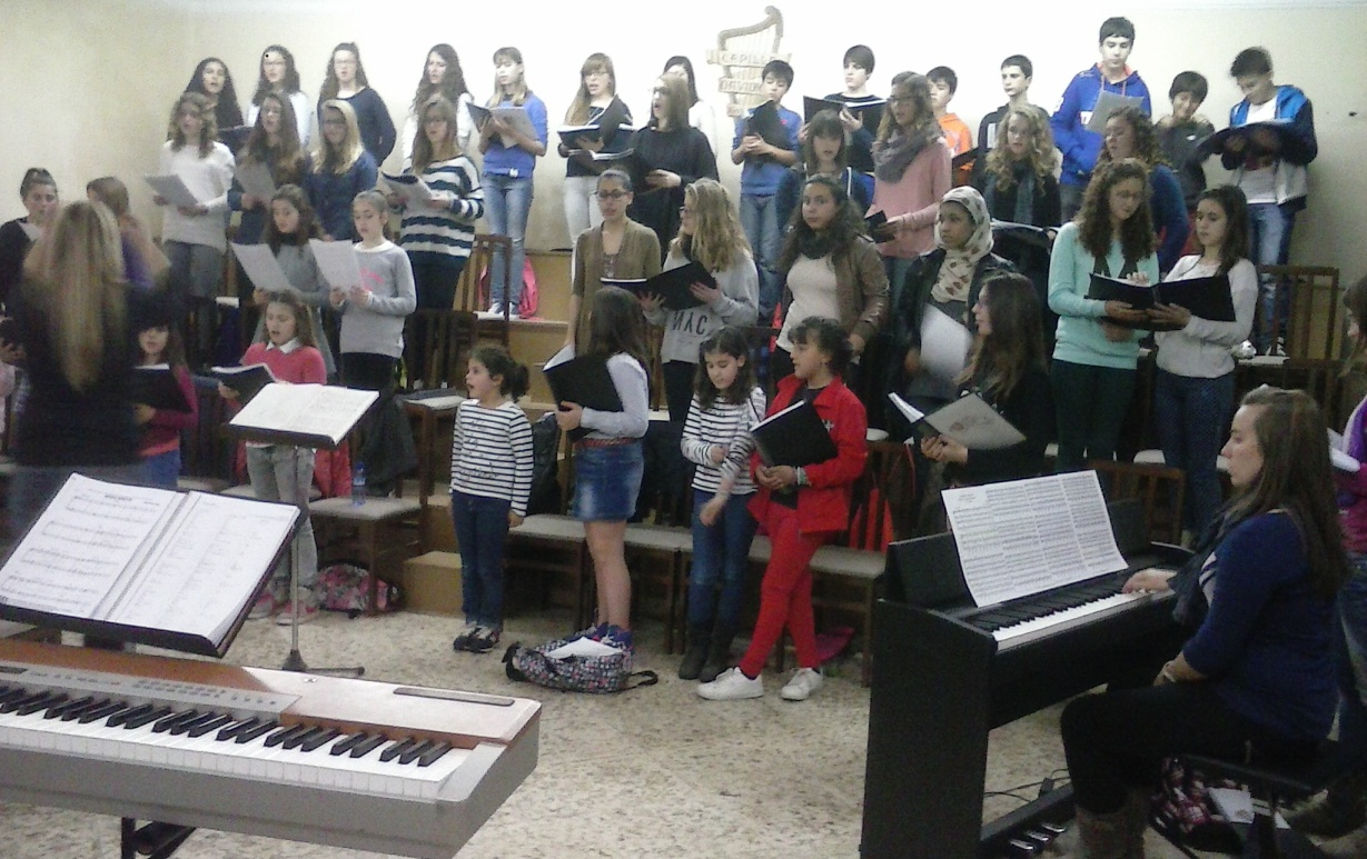 Los Pueri Cantores de la Catedral en uno de sus ensayos.