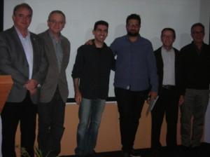 Luis Villamil e Iván Carretero, autores de 'Menorca a tiro de piedra', entre el jurado del Videobosco 2014.