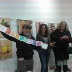 Pere Pons, Verónica Arellano y la concejal de Cultura Isabel Rodríguez en la inauguración de Art fet a Lô
