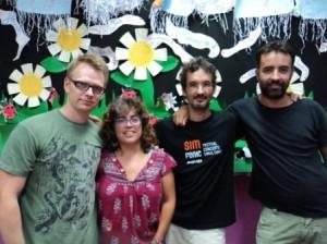 Los profesores del proyecto: Nico Barceló, Carme Cardona, Fèlix Ferrer y Pau Cardona.