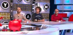 Vidal, a la izquierda, en dos fases del programa.