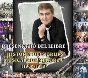 Sixto Cabiró en la imagen de las presentaciones del libro en Menorca.