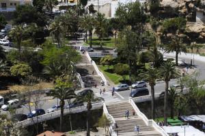 La mejora de la conexión puerto-ciudad en la costa de Ses Voltes es una de las actuaciones previstas. FOTO.- Tolo Mercadal