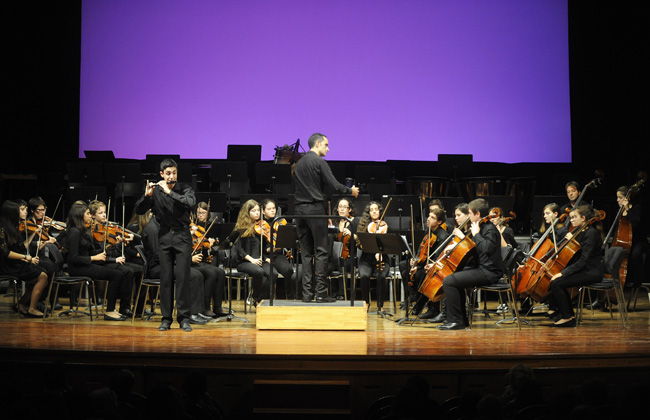 concert de nadal en el teatre principal con la orquesta del conservatorio y dansa alba