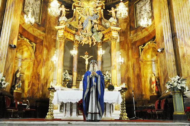 el canto de la sibil.la con maria camps en la iglesia de santa maria