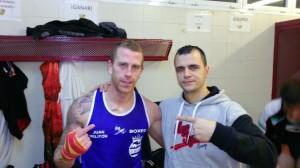 Melitón, con su técnico Alberto Moya (Fotos: K1 Box)