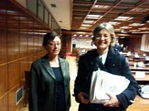 Pons Vila junto a García Tejerina, este lunes en el Senado.