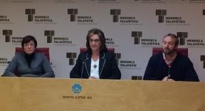 Fina Salord (IME), Maruja Baíllo (Consell) y Lluís Camps (Ajuntament de Es Castell) han presentado el programa de actividades.
