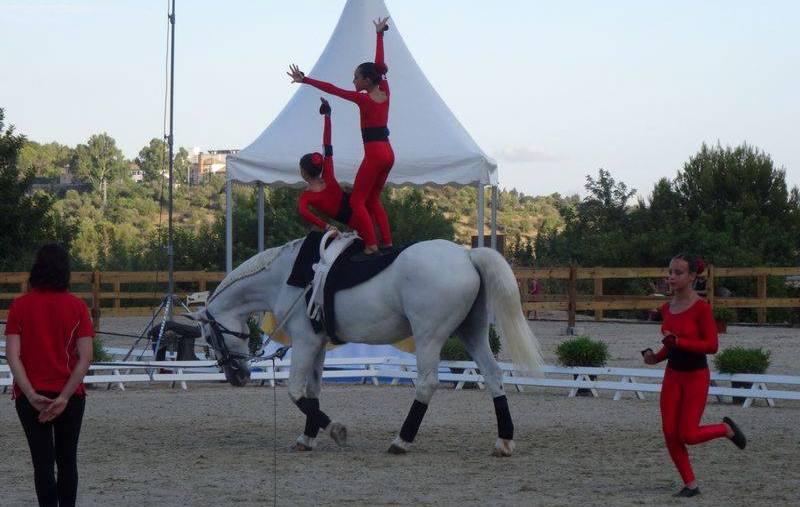 Alumnas de volteo del Club Hípic Ciutadella en el campeonato de España.