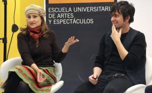 La productora Ana Amigo (izquierda) y el director Eduardo Chapero-Jackson.