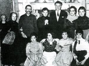 Grupo escénico de Radio Popular de Menorca, dirigido por José Delfín Serra, que en 1961 estrenó 'L'amo en Xec de s'Ullastrar'