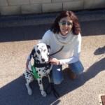 Mar Vidal y el perro Amadeus