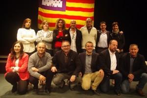 Conde y Forcada, con los candidatos del Pi Mallorca.