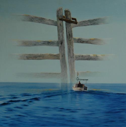 'Sa barrera de la mar' de Enric Gol ganó el ciutat d'Alaior de pintura en 2014.