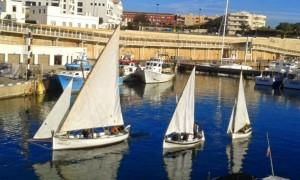 Encuentro de vela latina de Sant Antoni. Foto: Amics de la Mar de Menorca.