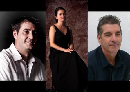 Siscu Riudavets, Ulyana Popovych y Toni Juan.