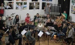 La Banda de Música de Alaior en el ensayo previo a la actuación de este domingo.