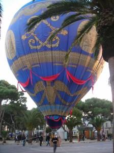 Globo aerostático en Ciutadella.