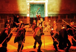 'Conquesta de Menorca' se basa en una pieza de tradición medieval y a medio camino entre el teatro sacro y el profano.