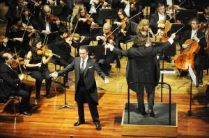 Orfila, en una actuación reciente con motivo del 185 aniversario del Teatro Principal de Mahón.