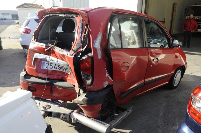 accidente de coche carretera alaior