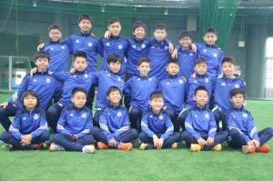 Equipo de la categoría U13 de la escuela del Chelsea.