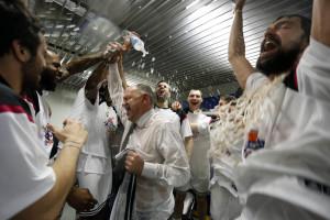 Llull, en dos momentos de las celebraciones (Fotos: ACB Photo)