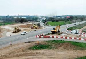 Obras en la carretera general (Foto: Tolo Mercadal)