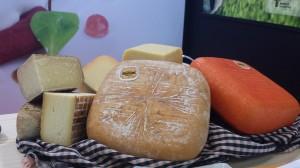 Piezas de queso menorquín. FOTO.- D.O.P. Mahón-Menorca