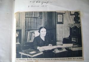 Margarida Orfila en una foto de 1935 en 'El día gráfico'. Foto: Isabel Fèlix