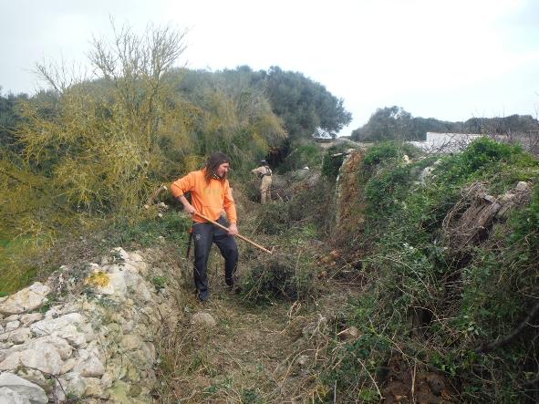Camí de Llumenes. Foto Coordinadora de Camins de Menorca.