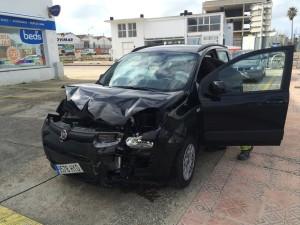 Imagen del accidente (Fotos: Tolo Mercadal)