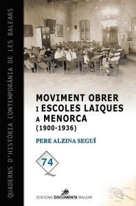 Portada del libro 'Moviment obrer i escoles laiques a Menorca (1900-1939)'