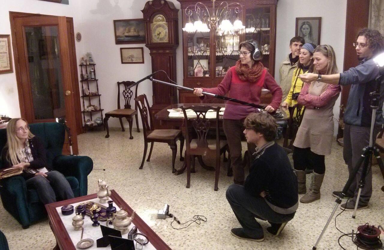 Es Far Cultural ha presentado uno de los proyectos, En la Imagen rodando el documental sobre Diego Monjo. Foto Es Far Cultural