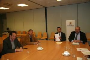 Imagen de la reunión de la Conselleria d'Economia i Competitivitat.