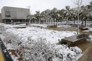 Imagen de la última nevada que cayó en Menorca.