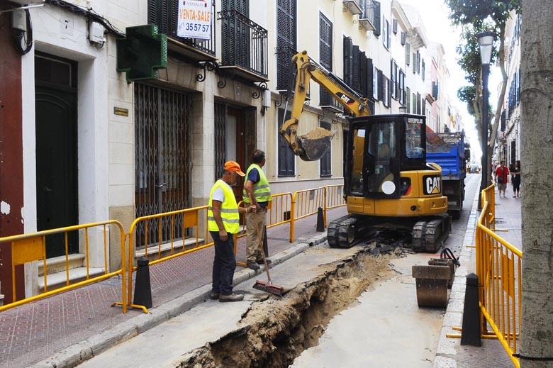 reanudacion obras cami es castell