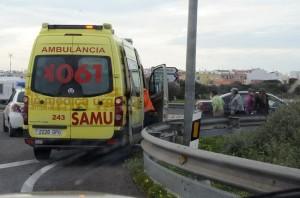 El choque se ha producido en el cruce con el camino de Sant Jordi. FOTO.- Tolo Mercadal