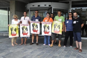protesta sindicatos ante bauza contra la privatizacion de aena