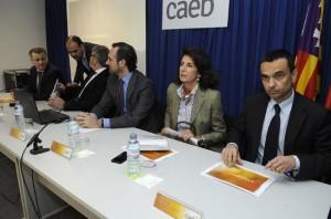 melis, Bauzá, Planas y García, a punto de comenzar la Jornada. FOTO.- Tolo Mercadal