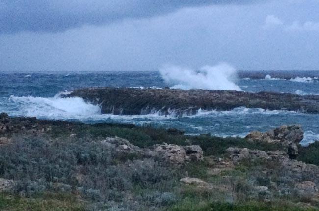 temporal de mar en binisafua