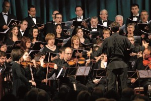 La Capella Davídica en una actuación con su anterior director Biel Barceló. Foto: Capella Davídica.