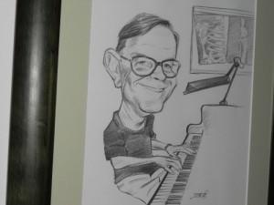 Caricatura de Pablo Soler regalada el día de su jubilación. Foto: P.S.G.