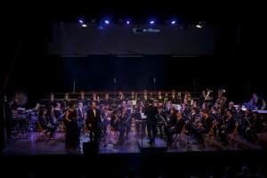 Momento del concierto en la Sala Multifuncional de Es Mercadal. Foto: Karlos Hurtado.