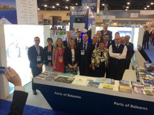 La delegación balear en la Feria de Cruceros de Miami.