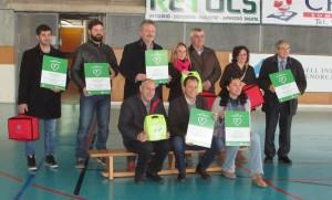 Pons y los representantes de todos los municipios de la Isla, en la presentación.