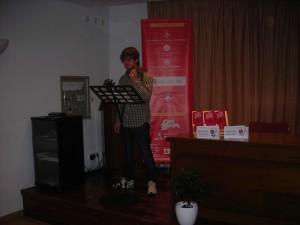 Momento de las lecturas dramatizadas de fragmentos de obras ganadoras del Premi Born de Teatre.