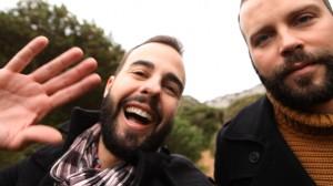 Miguel Bosch y Fran en una imagen del evento 'Buscamos título para nuestra serie' creado en Facebook.