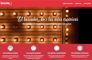 Captura de pantalla de la página web de Tuescena.com