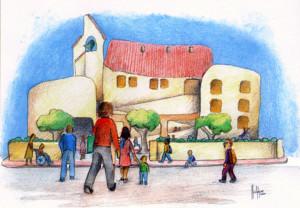 Imagen del colegio Sant Francesc d'Assís de Ferreries extraída de su web.